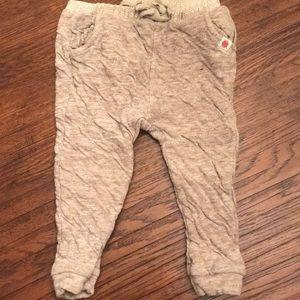 Zara heathered knit oatmeal joggers 18/24